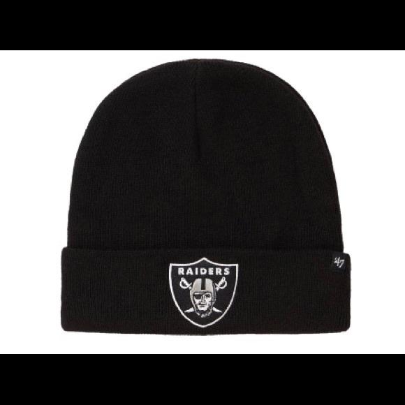a6a142898e227 Supreme NFL Oakland Raiders  47 Black Beanie SS19